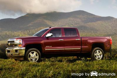 Insurance rates Chevy Silverado 2500HD in Chandler
