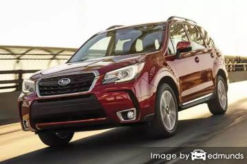 Insurance rates Subaru Forester in Chandler